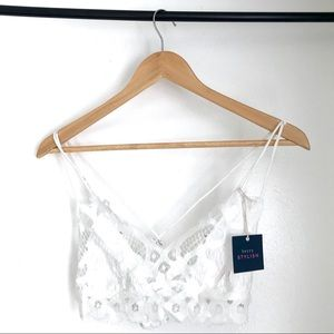 Berry Stylish Intimates & Sleepwear - Lace Date - White Lightly Lined FP Dupe Bralette